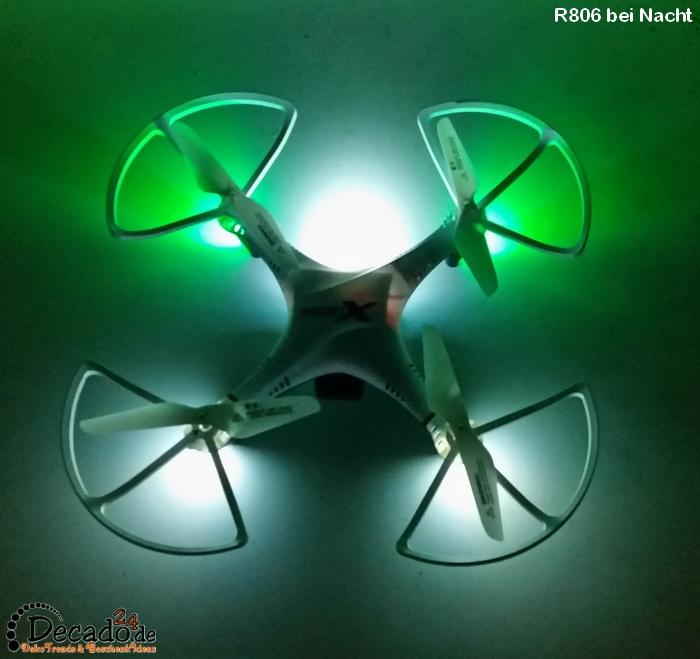 rayline r806 quadrocopter mit led beleuchtung hd kamera multicopter drohne ebay. Black Bedroom Furniture Sets. Home Design Ideas