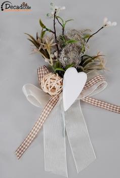 Tischdekoration Herz Natur Hochzeit Geburtstag Bei